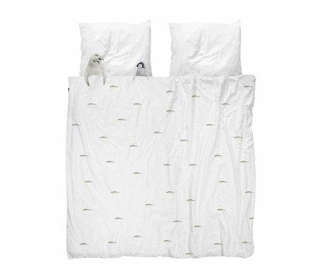 Snurk Sengelinned Artic venner hvid flannel 240x200 / 220cm + 2 / 60x70cm