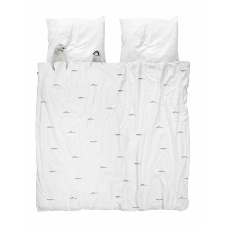 Snurk Biancheria da letto Artic amici flanella bianca 260x200 / 220cm + 2 / 60x70cm