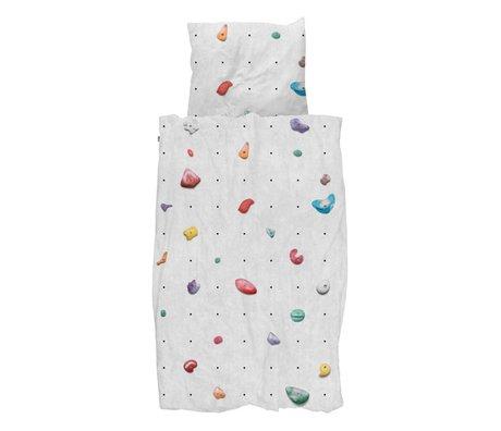 Snurk Housse de couette mur d'escalade coton multicolore 140x200 / 220cm + 60x70cm