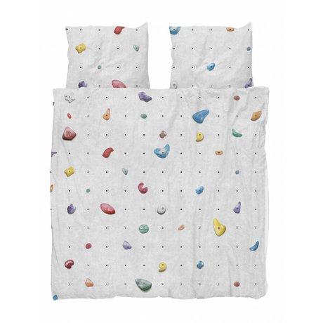 Snurk Housse de couette mur d'escalade multicolore coton 200x200 / 220cm + 2 / 60x70cm