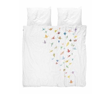 Snurk Lecho grúa aves algodón blanco 260x200 / 220cm + 2 / 60x70cm
