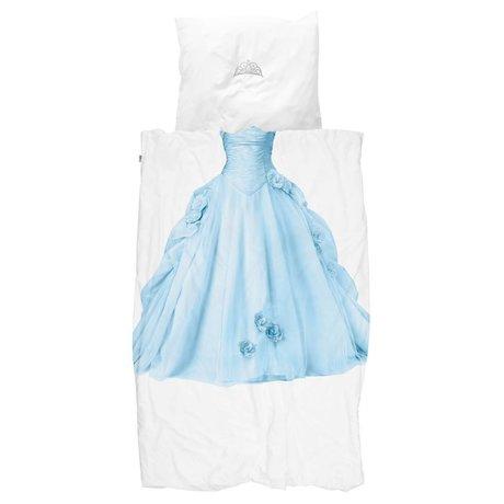 Snurk Sheets Princess Blue blå hvid bomuld 140x200 / 220cm + 60x70cm