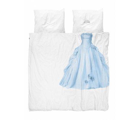 Snurk Draps Princesse Bleu bleu coton blanc 240x200 / 220cm + 2 / 60x70cm