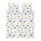 Snurk Bettbezug Papier Zoo mehrfarbig Baumwolle 240x200/220cm + 2/60x70cm