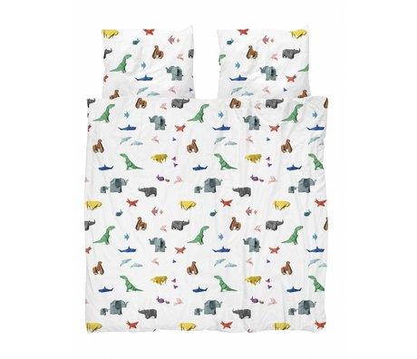 Snurk Copripiumino carta da zoo multicolore in cotone 240x200 / 220cm + 2 / 60x70cm