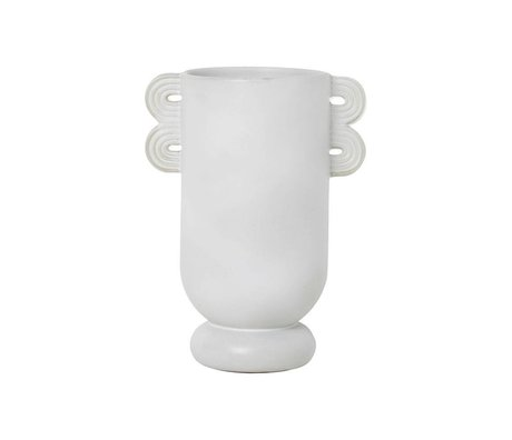 Ferm Living Vase Muses Ania light gray ceramics Ø13x29cm