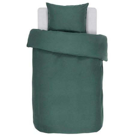 ESSENZA Copripiumino verde menta in cotone 140x220 + 60x70cm