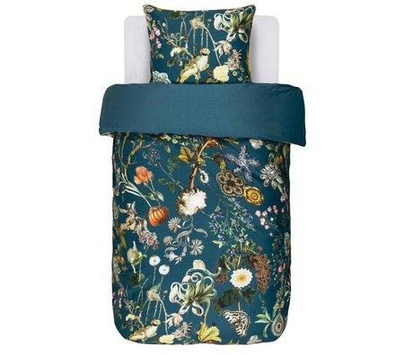 ESSENZA Bed linen Xess petrol blue cotton satin 140x220 + 60x70cm