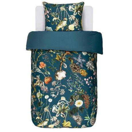 ESSENZA Ropa de cama Xess gasolina azul algodón satinado 140x220 + 60x70cm