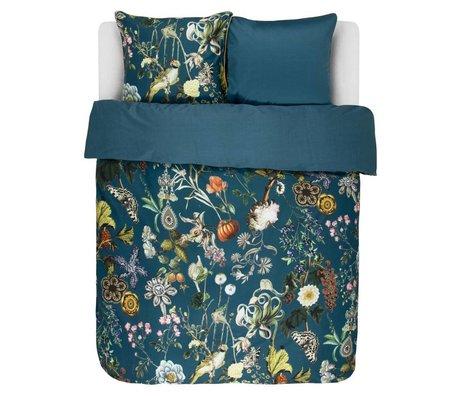 ESSENZA Ropa de cama Xess gasolina azul algodón satinado 240x220 + 2 / 60x70cm
