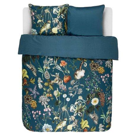 ESSENZA Bed linen Xess petrol blue cotton sateen 240x220 + 2 / 60x70cm