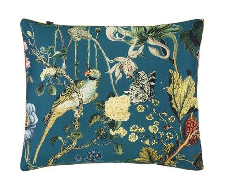 ESSENZA Cushion cover Xess petrol blue cotton satin 60x70cm