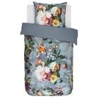 ESSENZA Housse de couette Fleur Satin de coton bleu délavé 140x220 + 60x70cm