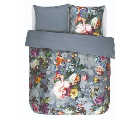 ESSENZA Bettbezug Fleur Verblasst blau Baumwollsatin 240x220+2/60x70cm