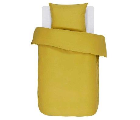 ESSENZA Duvet Cover Minte Gold Yellow Cotton Sateen 140x220 + 60x70cm