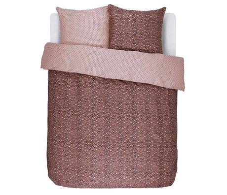 ESSENZA Housse de couette Satin de coton brun Bory Earth 240x220 + 2 / 60x70cm