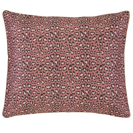 ESSENZA Cushion cover Bory Earth brown cotton sateen 60x70cm