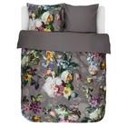 ESSENZA Duvet cover fleur taupe brown cotton satin 240x220 + 2 / 60x70cm
