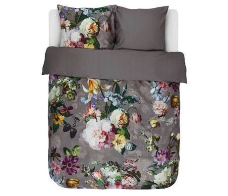 ESSENZA Bettbezug Fleur Taupe braun Baumwollsatin 240x220+2/60x70cm
