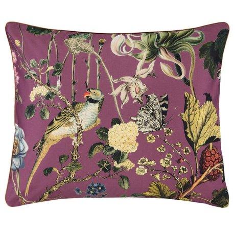 ESSENZA Cushion cover Xess Masala red cotton satin 60x70cm