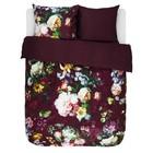 ESSENZA Bettbezug Fleur Burgund lila Baumwollsatin 200x220+2/60x70cm