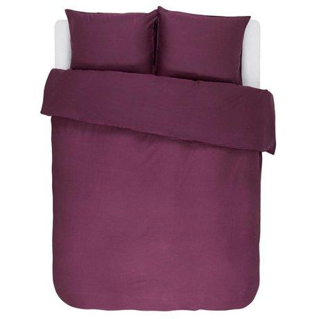 ESSENZA Duvet cover Minte Burgundy purple cotton satin 200x220 + 2 / 60x70cm