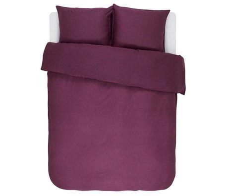 ESSENZA Duvet cover Minte Burgundy purple cotton satin 240x220 + 2 / 60x70cm