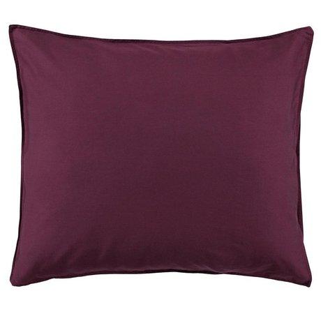 ESSENZA Cushion cover Minte Burgundy purple cotton satin 60x70cm