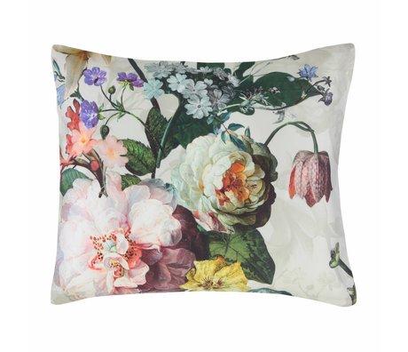 ESSENZA Federa Fleur Ecru in raso di cotone bianco 60x70cm