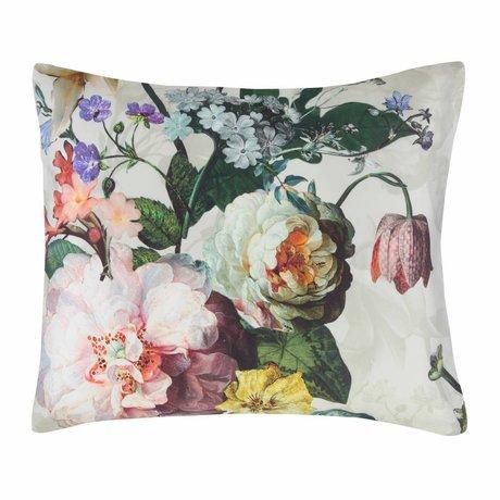 ESSENZA Taie d'oreiller Fleur Ecru satin de coton blanc 60x70cm