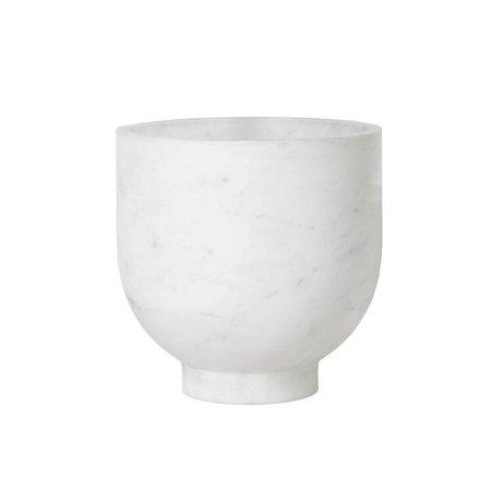 Ferm Living Cave à vin Alza en marbre blanc Ø23x23cm