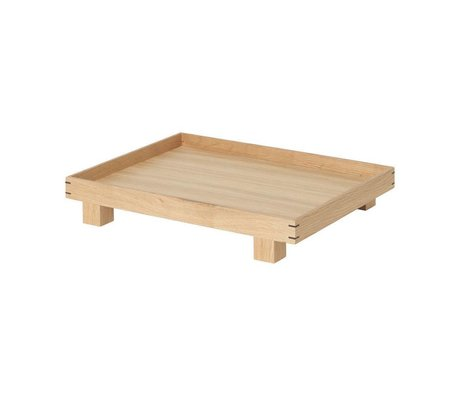 Ferm Living Tray Bon natural oak small 36x28x6cm