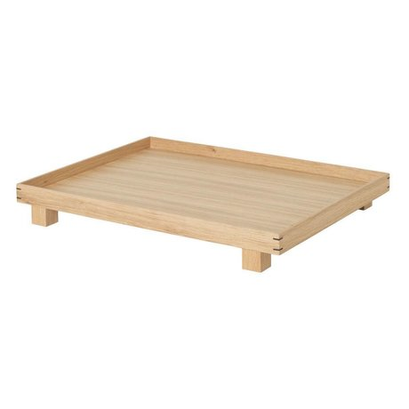Ferm Living Tray Bon natural oak large 47x36x6cm