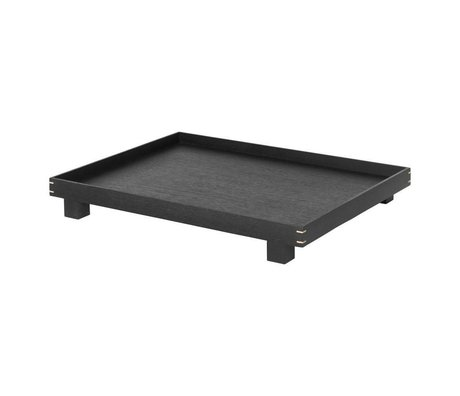 Ferm Living Tablett Bon schwarz Eiche groß 47x36x6cm