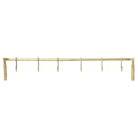 Ferm Living Kitchen rack brass gold steel 55,3x6,15x9,65