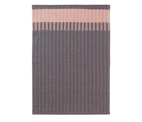 Ferm Living Tea towel Grain Jacquard pink cotton 50x70cm