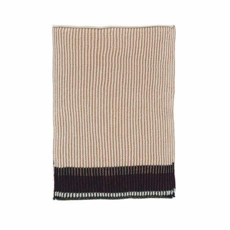 Ferm Living Torchon Akin coton rose set de 2 26x32cm