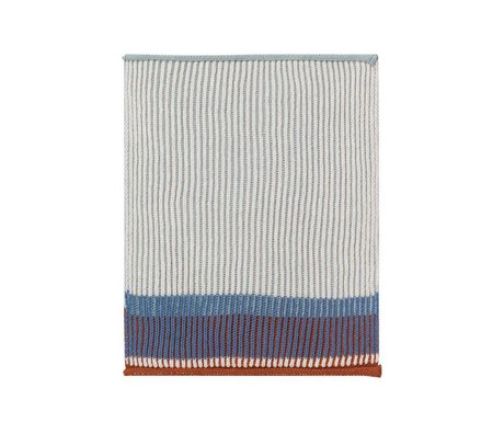 Ferm Living Dish cloth Akin blue cotton set of 2 26x32cm