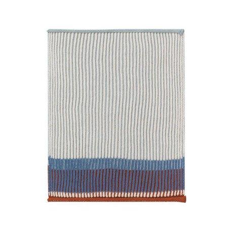 Ferm Living Geschirrtuch Akin blaue Baumwolle 2er Set 26x32cm