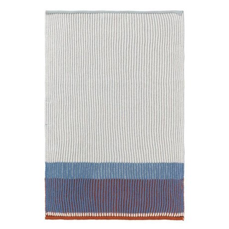 Ferm Living Torchon Akin bleu coton 35x50cm