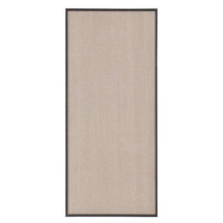 Ferm Living Pinboard Scenery beige schwarzes Baumwollholz 45x3,5x100cm