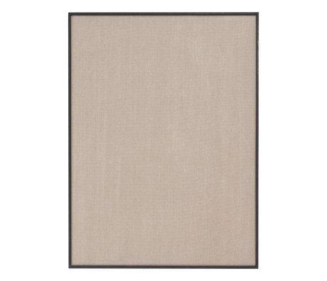 Ferm Living Pinboard Scenery beige schwarzes Baumwollholz 75x3,5x100cm