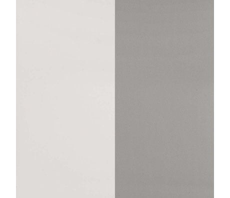 Ferm Living Wallpaper Thick Lines gray broken white paper 53x1000cm