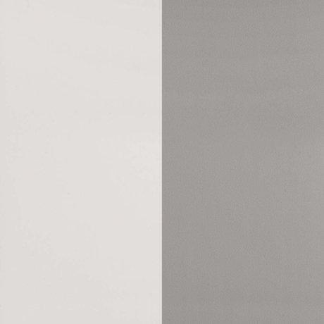 Ferm Living Papier peint Thick Lines gris papier blanc cassé 53x1000cm