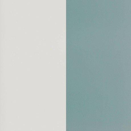 Ferm Living Wallpaper Thick Lines staubiges blaues gebrochenes weißes Papier 53x1000cm