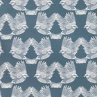 Ferm Living Papier peint Oiseaux papier blanc cassé vert foncé 53x1000cm