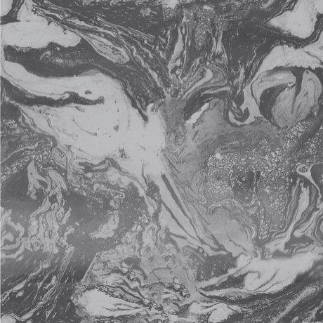 Ferm Living Tapete Marmorierung dunkelgraues Papier 53x1000cm