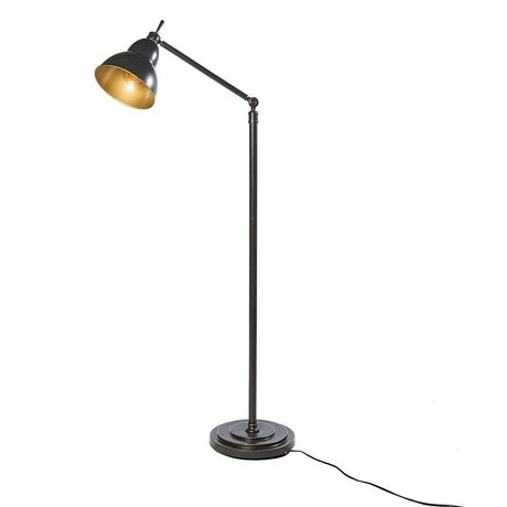 Riverdale Floor lamp Jesse dark gray metal 31x31x150cm
