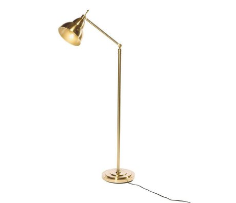 Riverdale Lámpara de pie Jesse dorado metal 31x31x150cm