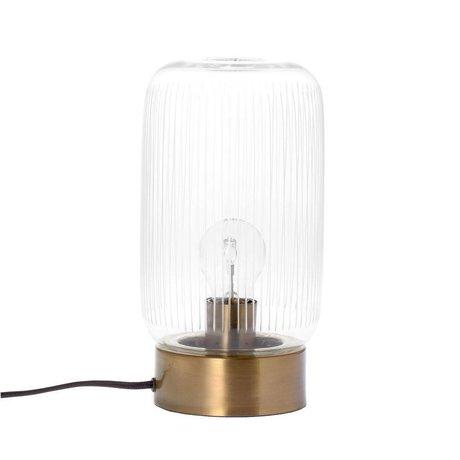 Riverdale Lampe de table bande de laiton laiton or verre Ø15x28cm